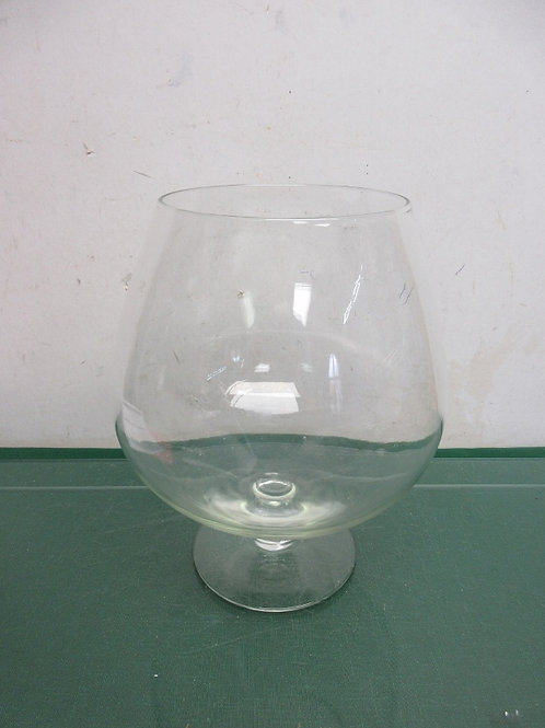 Large glass brandy snifter, 2 available