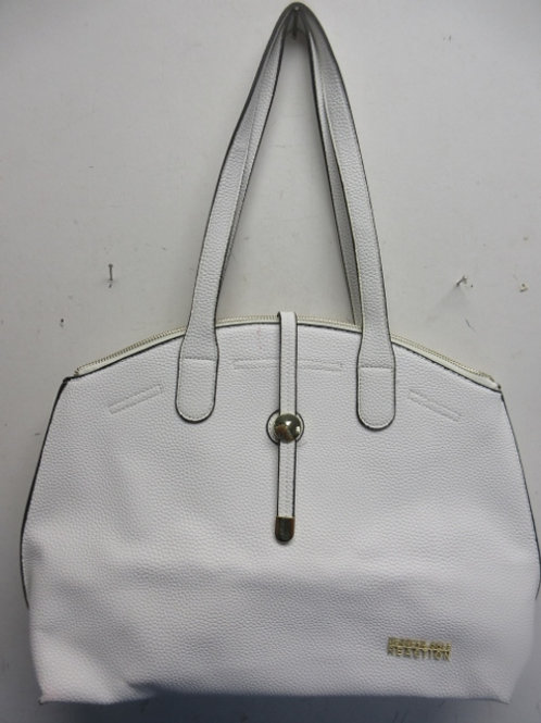 Kenneth Cole Reaction white leather purse
