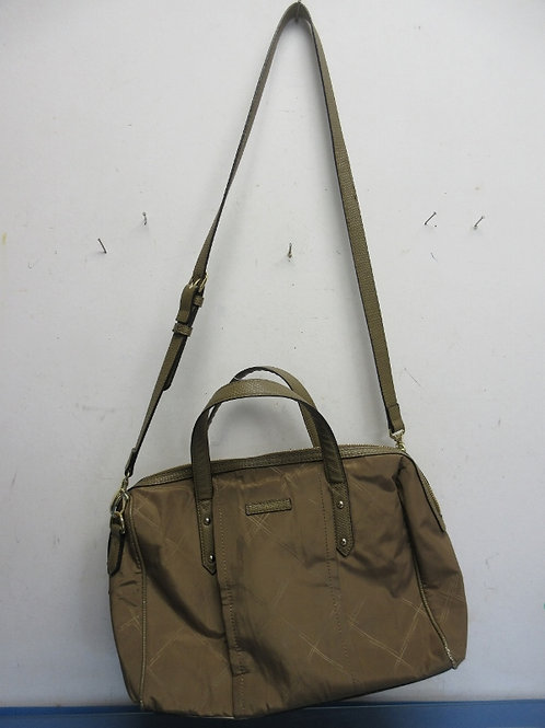 Vera Bradley solid brown purse with handle and shoulder strap