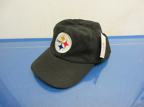 Steeler black baseball cap, one size fits all