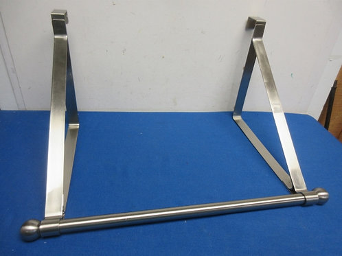 """Brushed stainless over the door bar coat rack, 16""""long"""