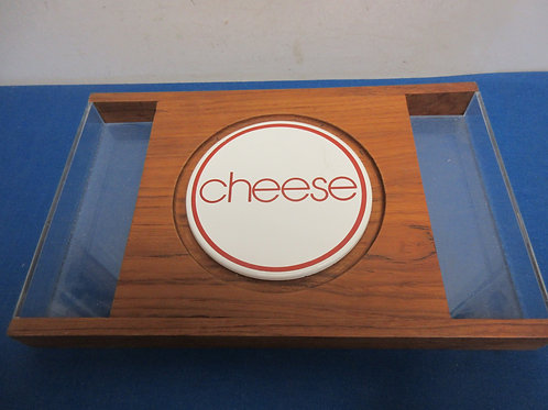 Wooden and acrylic cheese board