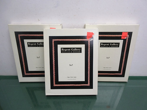 """Set of three 5x7"""" photo frames with rope accent, New in Boxes"""