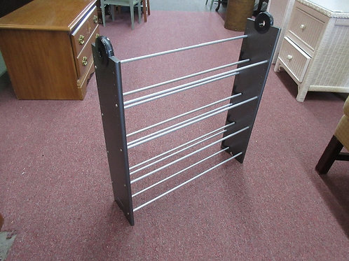 Atlantic gray and black 3 tier shoe rack - 2 avail