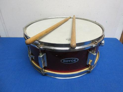 """Royce Snare Drum 14"""" steel drum with remo sound master w/drum sticks"""