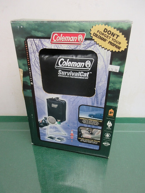 Coleman survival cat, emergency kit, 800BTU catalytic heater, New never used