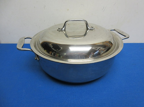 All-Clad 4.5qt stainless dutch oven with domed lid and double handles