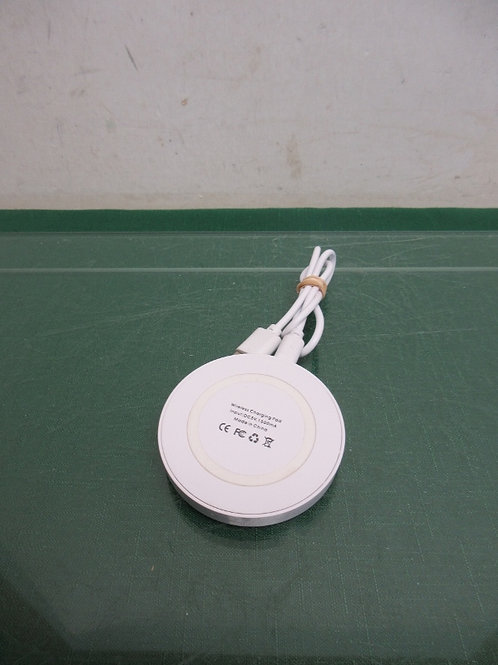 White wireless charging pad - tested and works with iphone