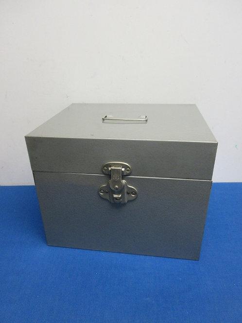 Metal 2 section file box 13x10x10