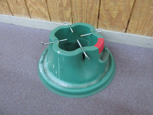 Green heavy resin Christmas tree stand