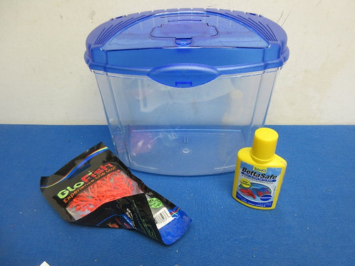 Plastic fish container with few accessories