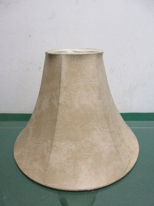 """Light beige faux leather bell shaped 9"""" shade"""