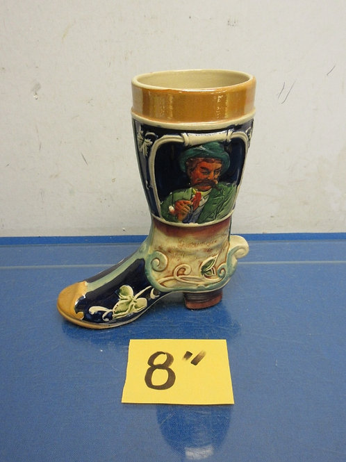 "German boot shaped stein 8"" high"