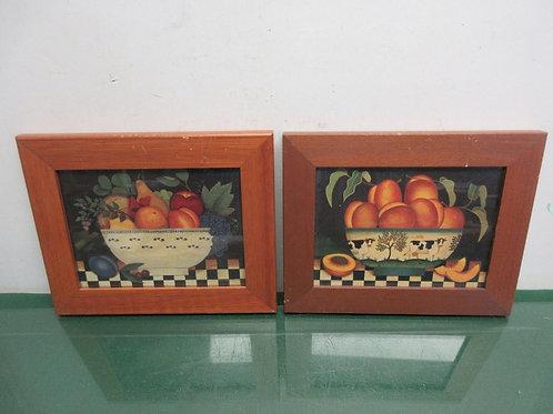 Pair of prints of fruit bowls-each 8x10