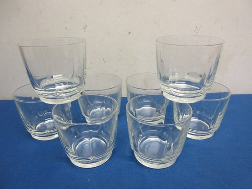 Set of 8 old fashion glasses
