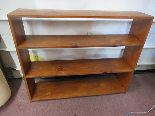 """Stained pine 3 tier shelving unit, 44x10x36""""high"""