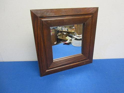 Wide dark frame mirror, 11x11