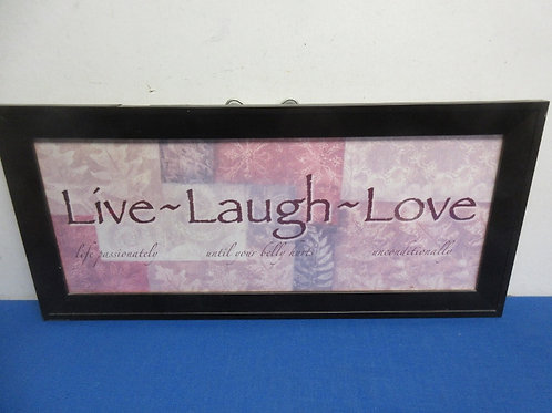 Live,Laugh,Love wall hanging, 10x22
