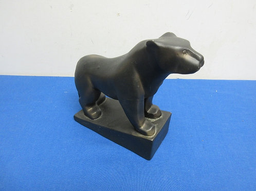 """Ceramic statue of panther, 8 x8""""high"""