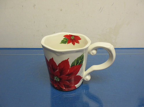 Large Pointsettia design drinking mug