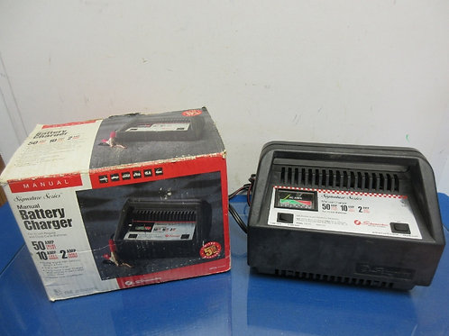 Schumacher Signature Series manual battery charger 50 amp