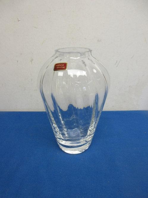 "Lenox crystal jar vase 9"" high"