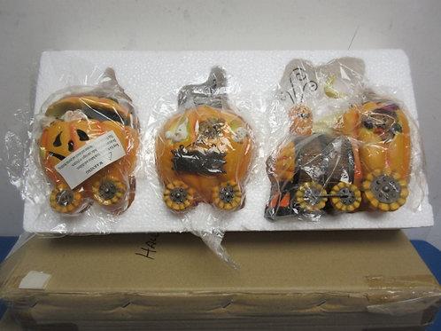 Halloween ceramic 3 car train