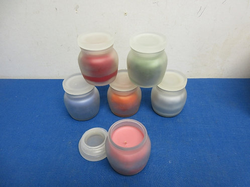 Set of 6 small scented jar candles