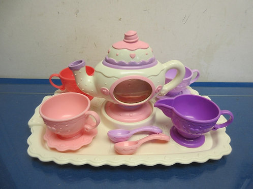 Fisher Price tea party tray, 10 pieces