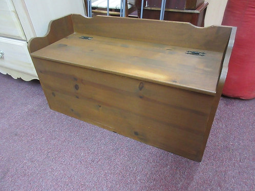 """Pine bench/ toy chest, with safety hinges, 35x14x19"""" high"""