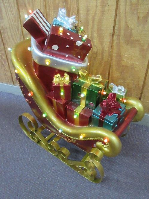 Kringle Express indoor/outdoor lit oversized santa's sleigh w/timer - Brand New