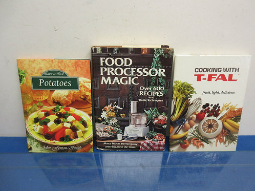 Set of 3 cookbooks, food processor magic cooking w/t-fall & potato cookbook