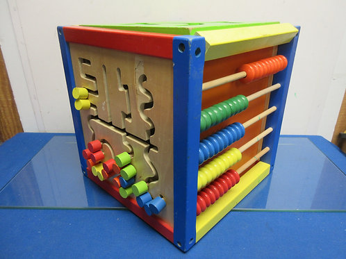 Activity cube, 6 different sides, each has a different activity 12x12x12""
