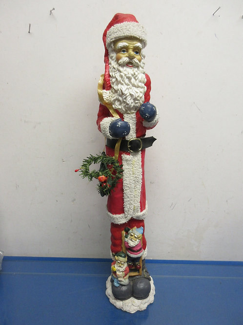 "Resin tall skinny Santa statue 22"" high"