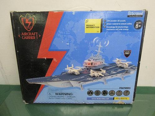 Robotime Technology Makes Fun Aircraft Carrier wood set, ages 8+