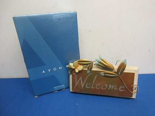 """Avon copper & stone """"Welcome"""" outdoor sign - lights up"""