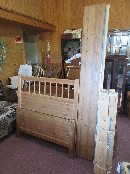 Ikea Hemnes twin bed, hb, fb, side rails, wood slats