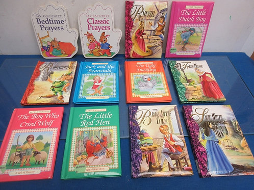 Set of 12 Little Classic Books-Rapunzel, Jack and the Beanstalk and more