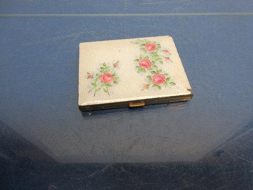 Vintage porcelain and metal cigarette case