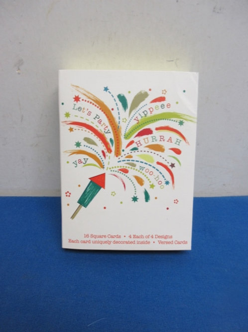 Box of 16 birthday cards and envelopes