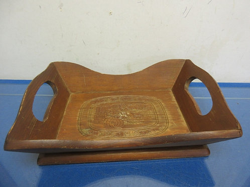 """Small wooden tray """"give us this day…"""""""
