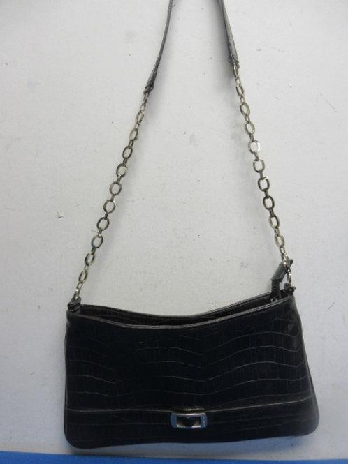Small black repitle skin cross body purse