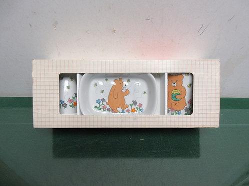 Three piece bath set, bear design, new in box