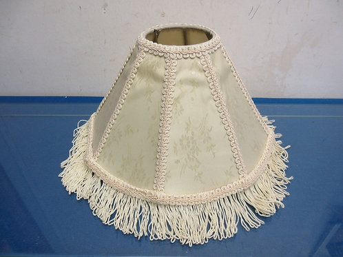 Small ivory design lamp shade with fringe 7""