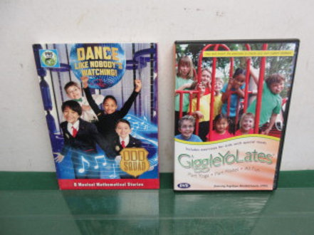 Pair of childrens exercise dvds, giggle yo lates, & dance like nobodys watching