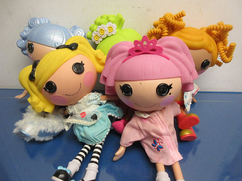 "Set of 5 Lalaloopsy large 13"" dolls-group with crazy gold hair"