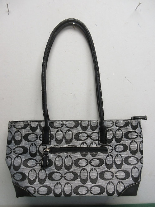 Black and gray traditional Coach purse