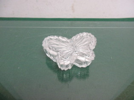 Small cut glass butterfly keepsake dish with lid