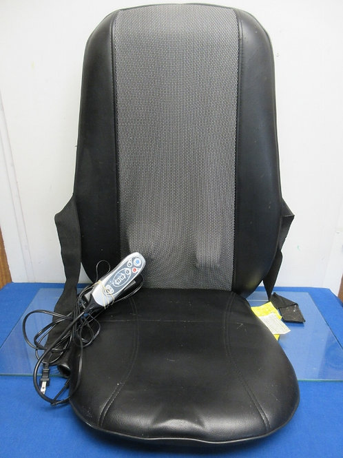 Electric massage black chair seat cushion and back