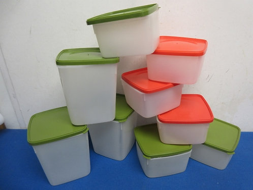 Tupperware set of 9 small square containers